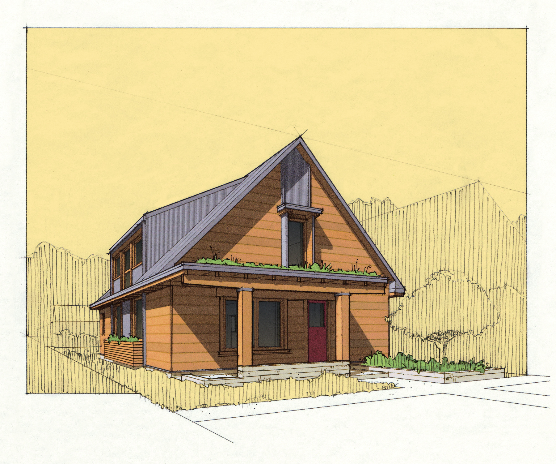 Bungalow Rendering Small